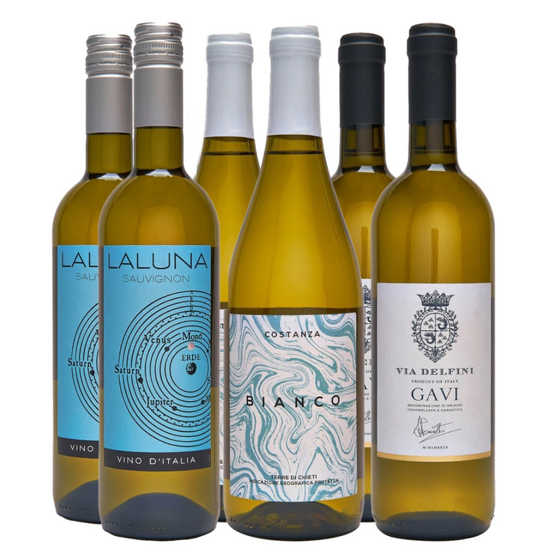 Italian White Wine Case 6 x 75 cl - London Grocery