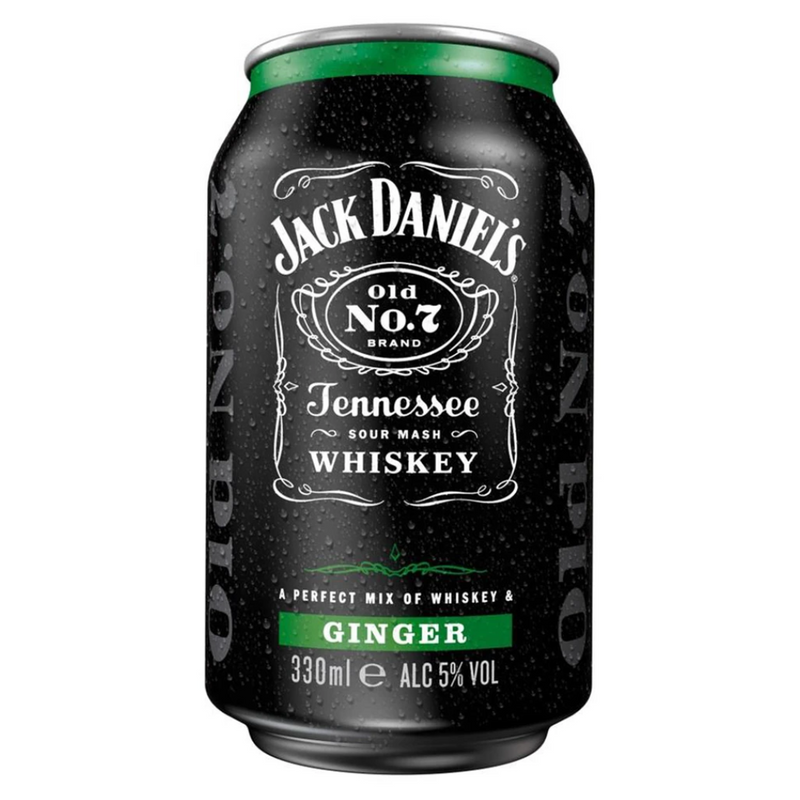 Jack Daniels Whiskey & Ginger Premixed Can 12 x 330 ml - London Grocery