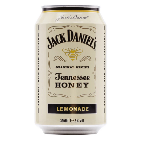 Jack Daniels Honey Whisky & Lemonade Premixed Cans 12 x 330 ml - London Grocery - Online Grocery Shopping