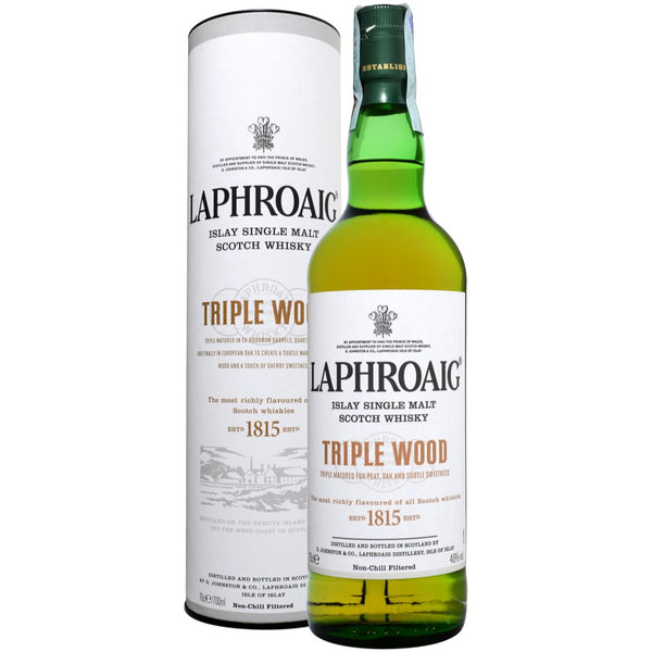 Laphroaig Triple Wood Single Malt Scottish Whisky 70cl - London Grocery - Online Grocery Shopping