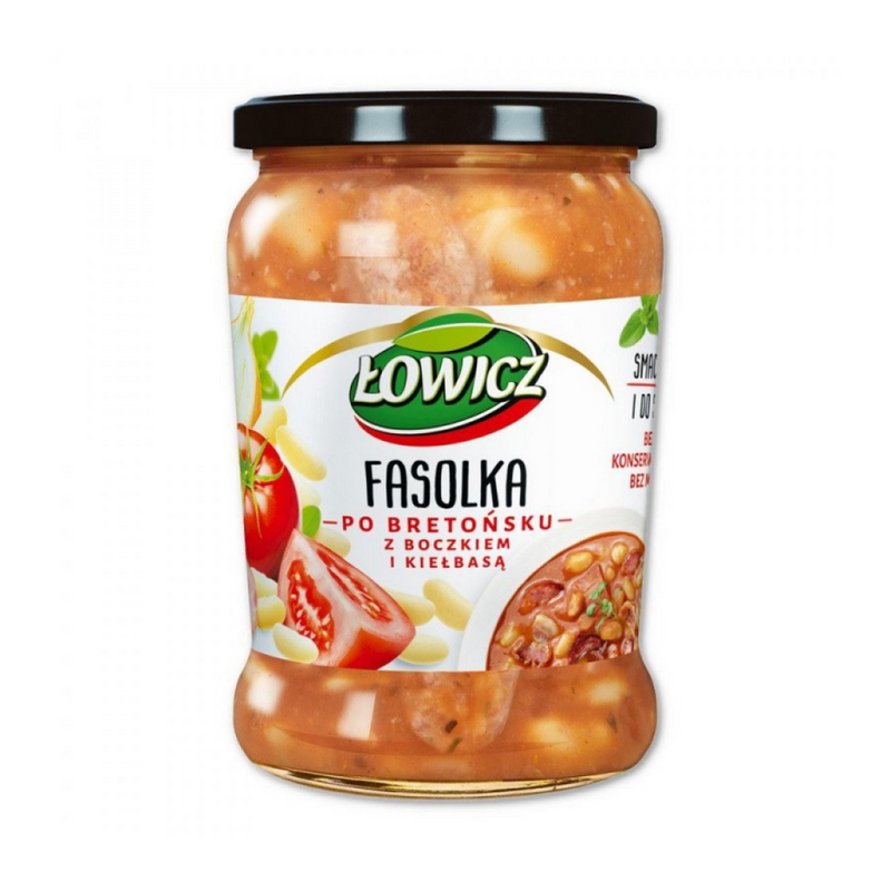 Lowicz Fasolka – Beans, Bacon & Sausages 580gr-London Grocery
