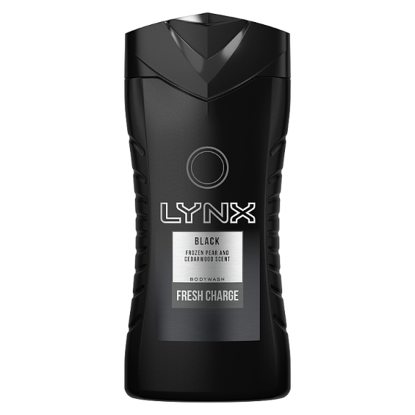 Lynx Black Shower Gel 250 ml - London Grocery - Online Grocery Shopping