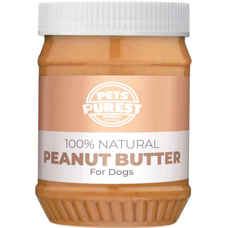 Pets Purest 100% Natural Peanut Butter For Dogs 340gr / Free From Palm Oil, Wheat & Gluten - London Grocery