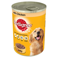Pedigree Wet Dog Food Tin with Chicken in Jelly 385g - London Grocery - Online Grocery Shopping