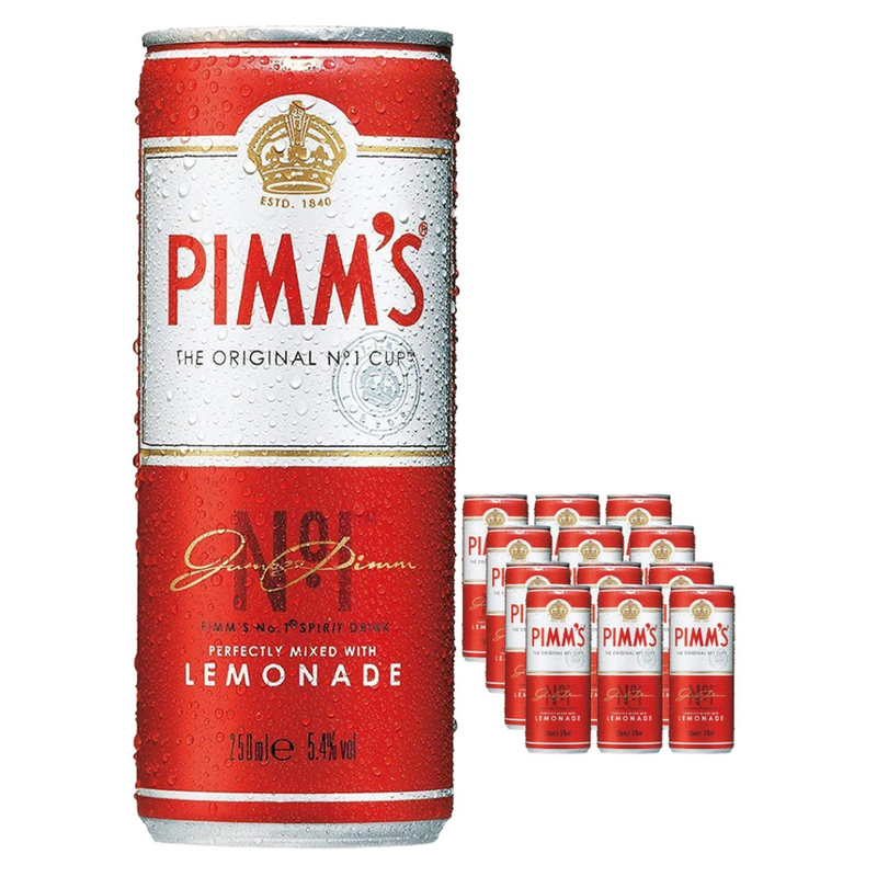 Pimm's & Lemonade Can 12 x 250 ml Multipack - London Grocery