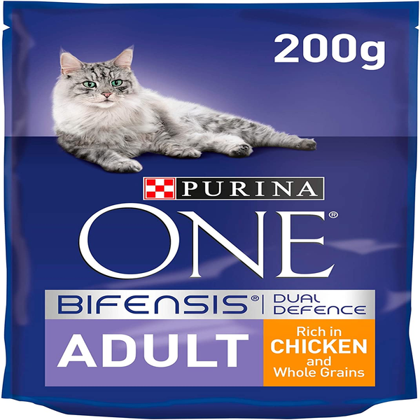 Purina ONE Adult Dry Cat Food Chicken and Whole Grains 200g - London Grocery - Online Grocery Shopping