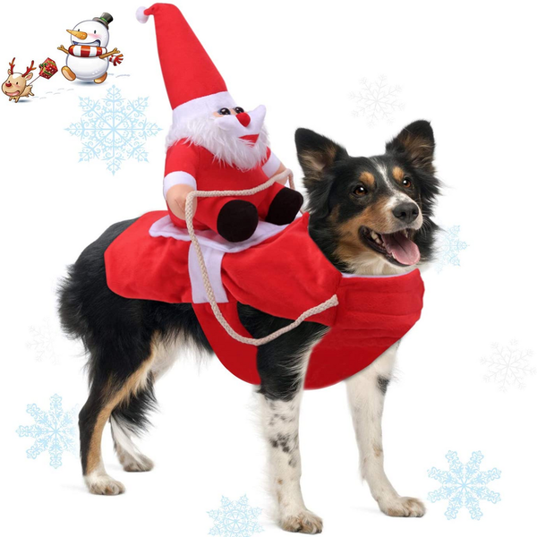 Running Santa Dog Costume for Christmas - London Grocery - Online Grocery Shopping