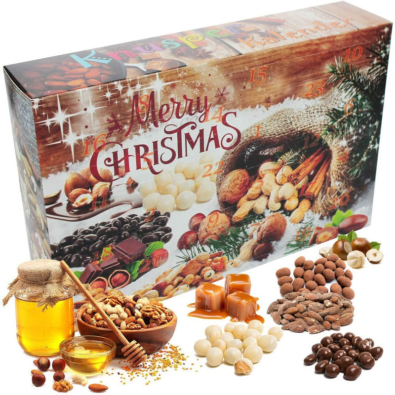 C&T Crunchy Advent Calendar 2020 - 24 Delicious Snack Mixes - Including Nuts & Munchies with Chocolate, Honey & More - Food Lovers Christmas Calendar - London Grocery
