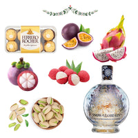 Snow Globe Gin, Chocolate & Exotic Fruit Luxury Christmas Hamper - London Grocery - Online Grocery Shopping