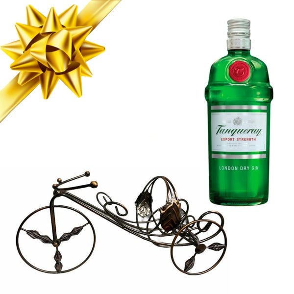 Tanqueray London Dry Gin 70cl with Premium Metal Bottle Holder Gift Set - London Grocery - Online Grocery Shopping