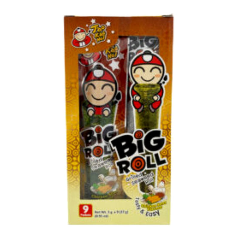 Taokaenoi Big Roll Grilled Seaweed Roll (Chicken Satay) 27gr-London Grocery