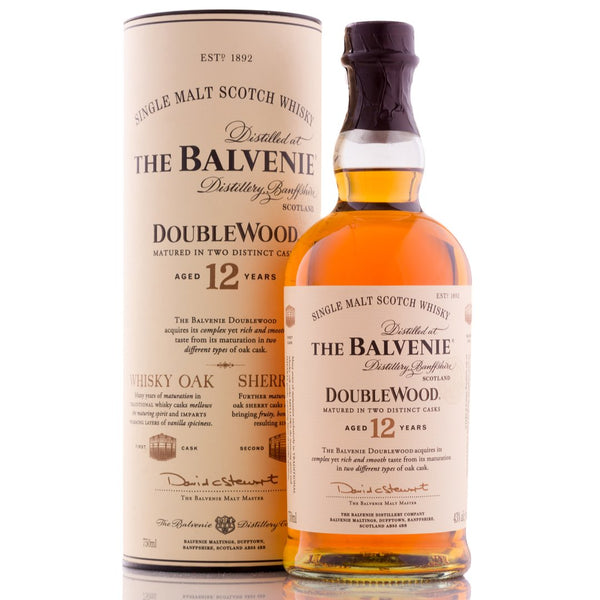 The Balvenie Double Wood Single Malt Scottish Whisky 75cl - London Grocery - Online Grocery Shopping