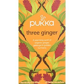 Pukka Three Ginger Tea 20 Bags - London Grocery - Online Grocery Shopping