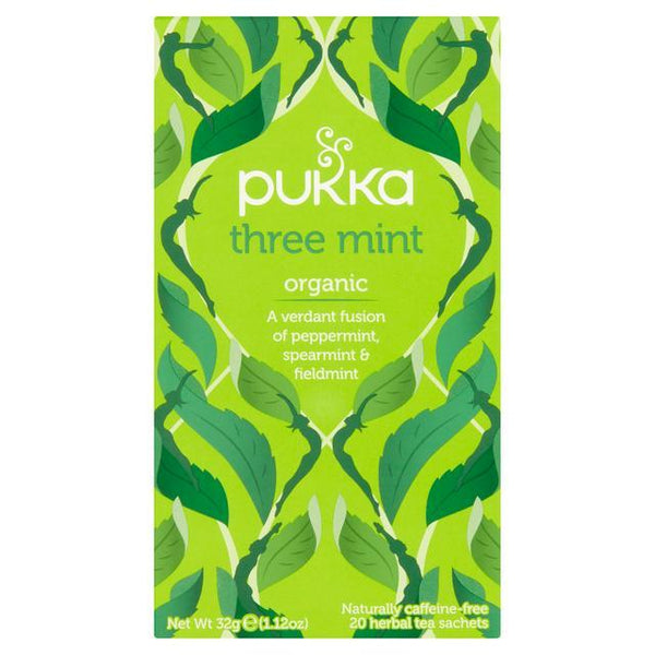 Pukka Organic Three Mint Tea 20 Bags - London Grocery - Online Grocery Shopping