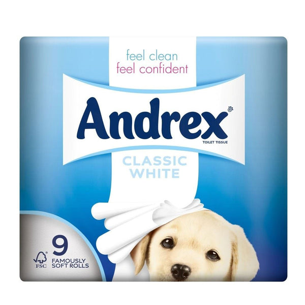 Andrex Super Soft Toilet Rolls 9 pcs - London Grocery - Online Grocery Shopping