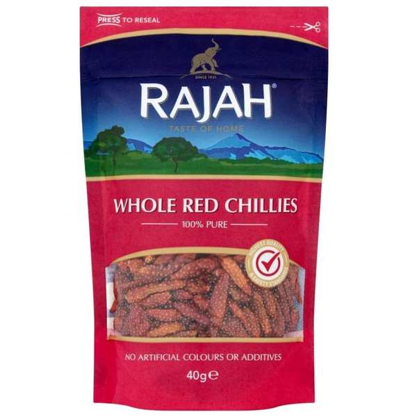 Red Chillies Whole 50g - London Grocery - Online Grocery Shopping