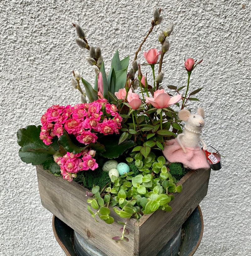 Pretty In Pink Spring Planter
