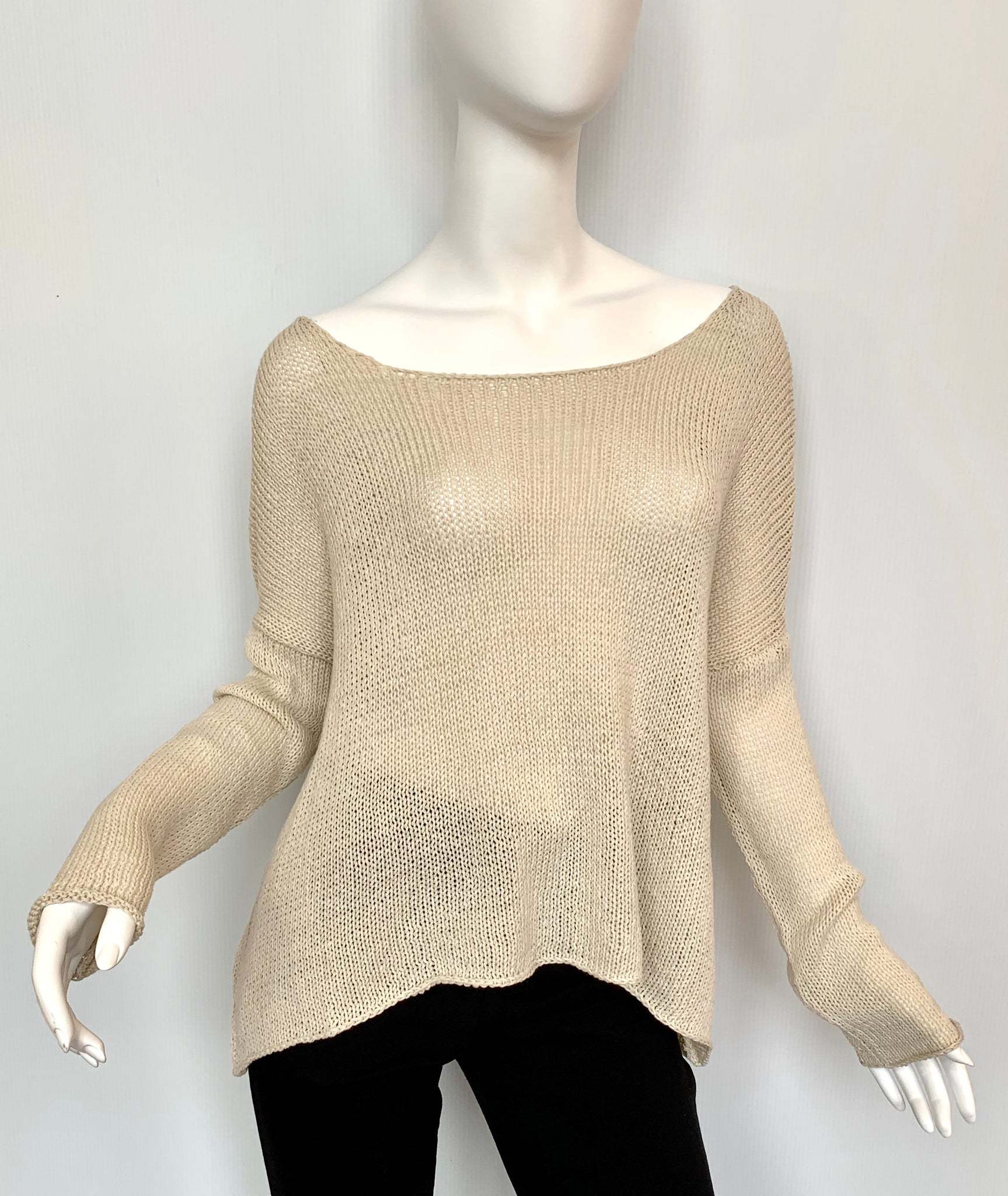 Crop Boyfriend Sweater (2 colors available)