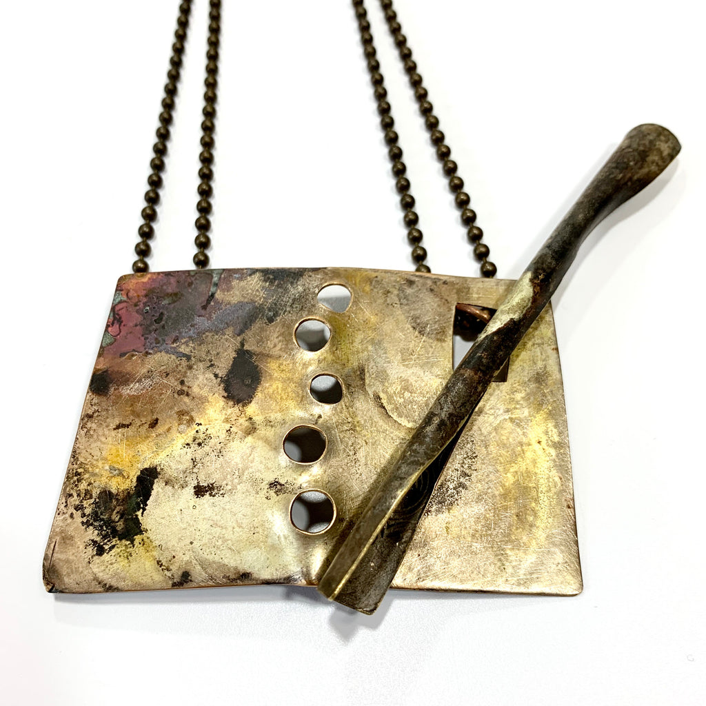 Brass Toggle Necklace