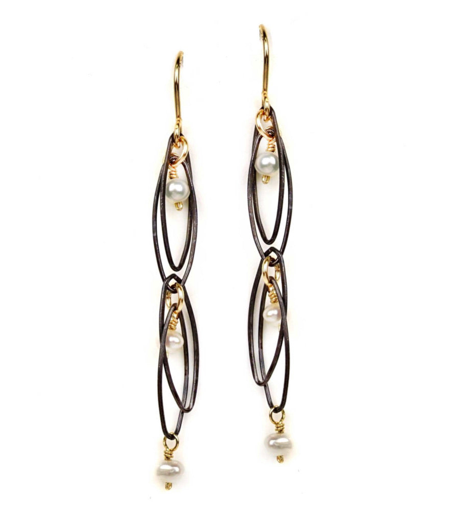 Oval Links Earring