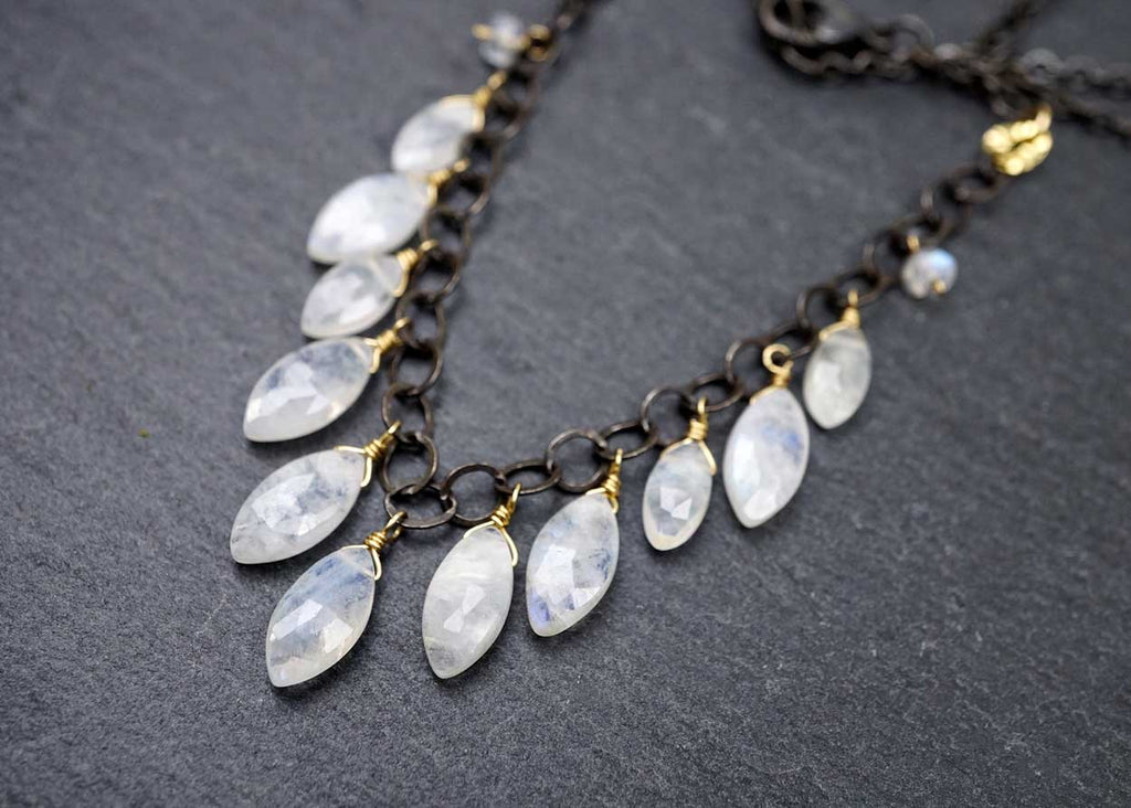 Cascading Moonstone Necklace