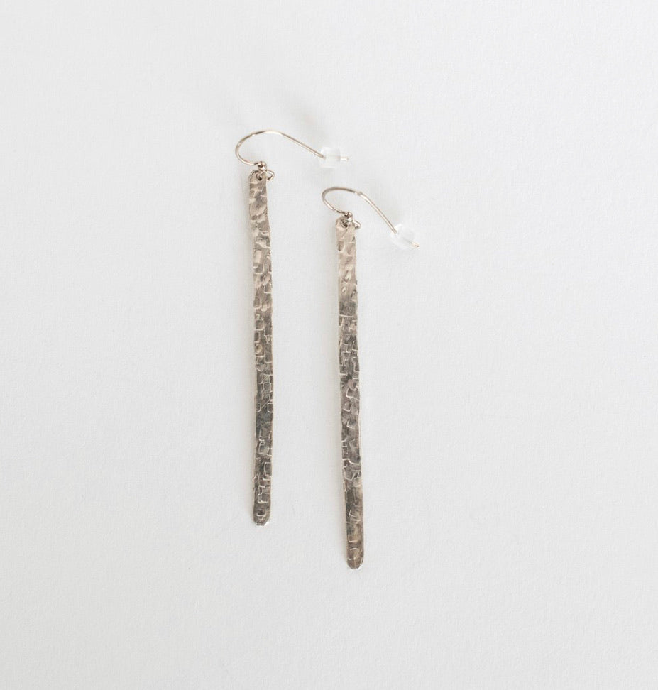 Hammered Bar Earring