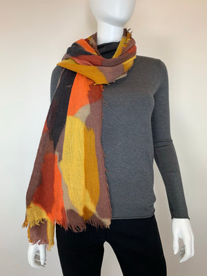 Wool Color Patch Scarf