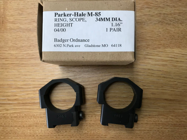 Badger Ordnance 34mm Scope Rings (for Parker Hale M85 Series Rifles)