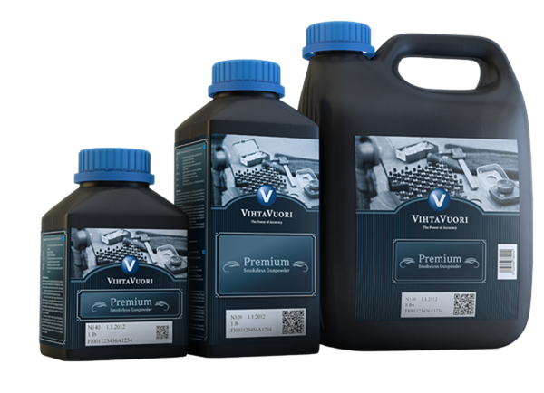 Vihtavuori Premium Smokeless Powder N100, N300, N500 Series