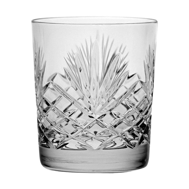 European Cut Crystal Double Old Fashioned Tumblers - For Whiskey - Bourbon - Water - Beverage - 12 Oz. - Set of 6
