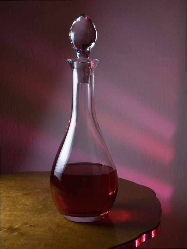 European Lead Free Crystalline Oversized Wine Decanter W/ Stopper - 58 Oz.