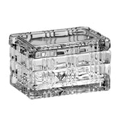 "European Cut Crystal Large Rectangle Covered Candy / Jewelry Box - 5"" Length"