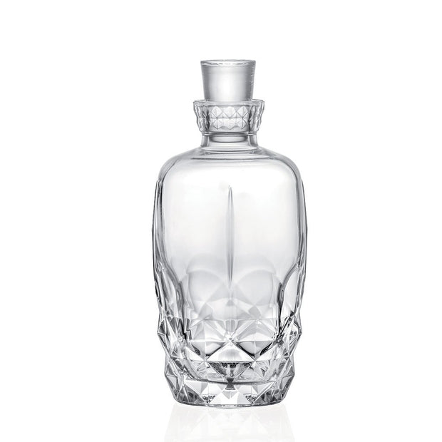 "European Lead Free Crystalline Whiskey Decanter - Liquor - Vodka - Wine - W/ Stopper - 41 oz. - 10"" Height"