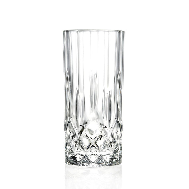 European Lead Free Crystalline Highball Tumblers - Drinking Tumblers - Water- Juice - Wine & Beer - 13 Oz. - Set of 6