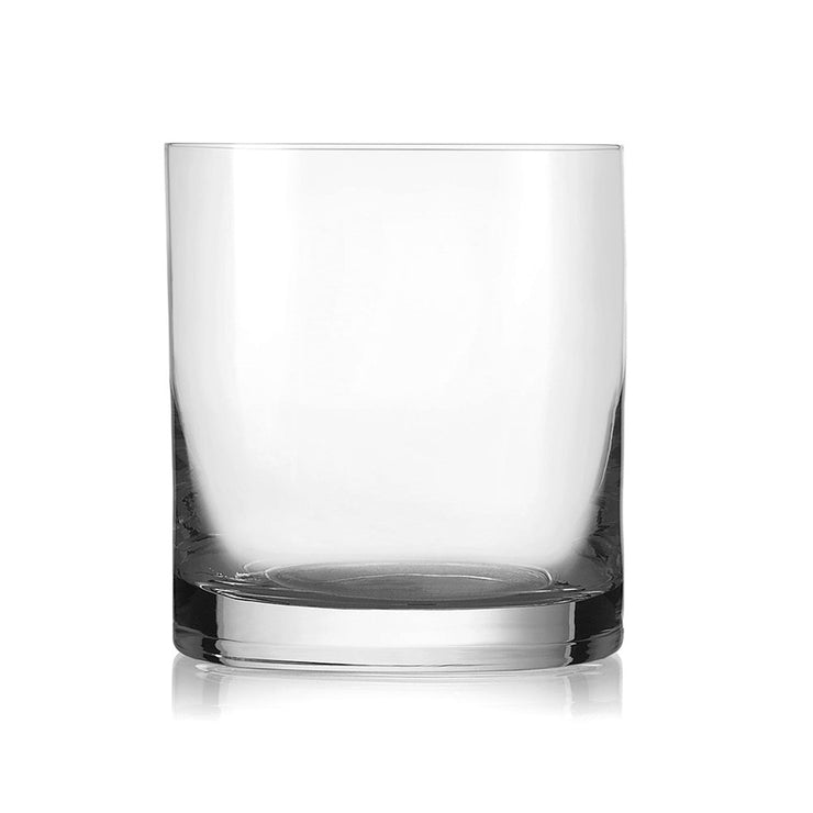 European Lead Free Crystalline Double Old Fashioned Tumblers - Gift Boxed - 18 Oz. - Set of 6