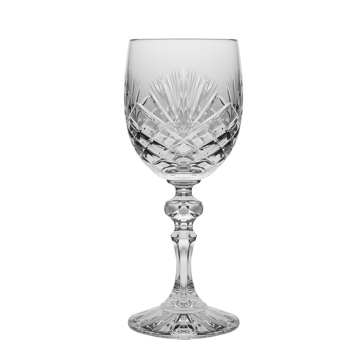 European Cut Crystal Red / White Wine Goblet - 6 Oz. - Set of 6