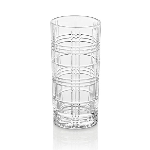 European Lead Free Crystalline Highball Tumblers - Beautiful Designed - Water - Juice- Wine - Beer, 13 Oz. - Set of 6