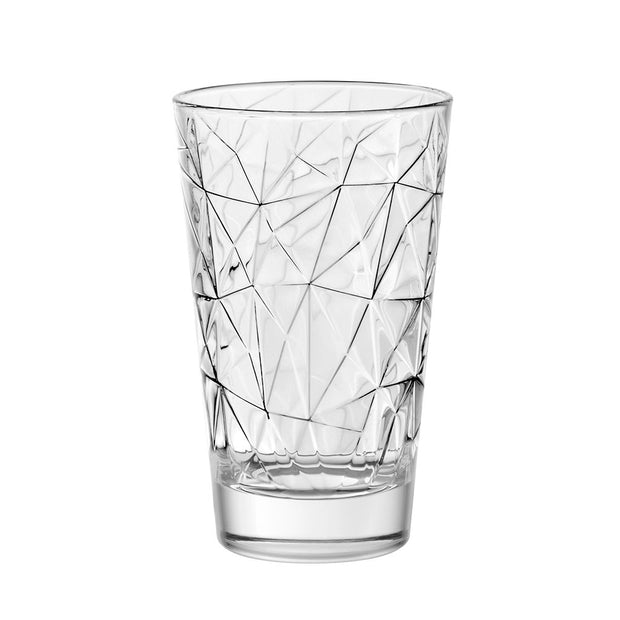 European Lead Free Crystalline Highball Tumbler - 14 Oz. - Set of 6 - Artistically Designed