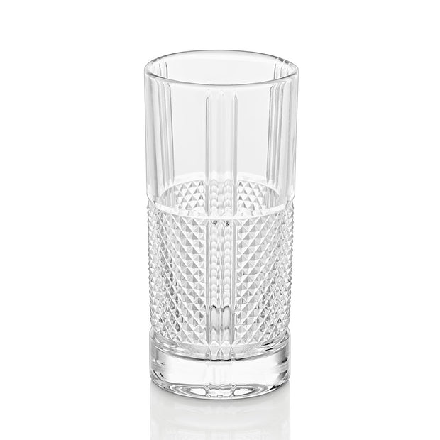 European Lead Free Crystalline Highball Glasses - Beautiful Designed - For Water - Juice - Wine - Beer & Cocktails - 13 Oz. - Set of 6