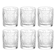 European Lead Free Crystalline Double Old Fashioned Tumblers - For Whiskey - Bourbon - Water- Beverage - 12 Oz. - Set of 6