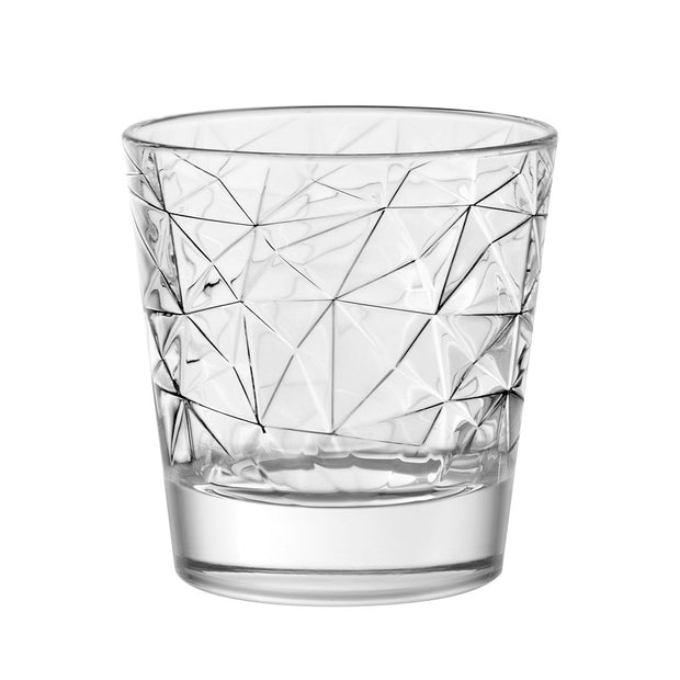 European Lead Free Crystalline Old Fashioned Tumblers - Uniquely Design - 9.8 Oz. - Set of 6