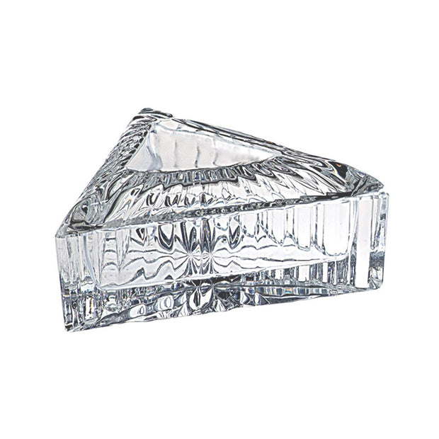 European Crystal Candy / Jewelry Box With Cover - Triangular Shaped - 4.6""