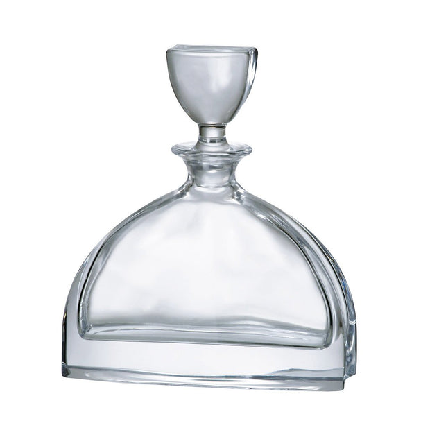 European Lead Free Crystalline Wine - Whiskey - Liquor Decanter W/ Stopper - 24 Oz.