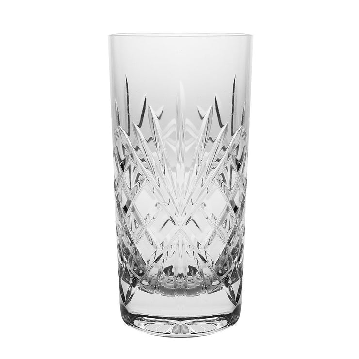 European Crystal Highball Tumbler- For Water , Juice, Wine , Beer & Cocktails - 14 oz. - Set of 6