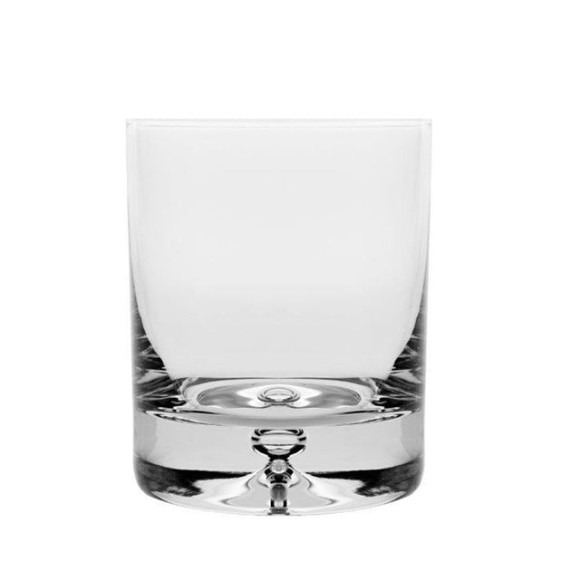 European Lead Free Crystalline Double Old Fashioned Tumbler -Bubble in the Base - 9.5 Oz. -Set/4