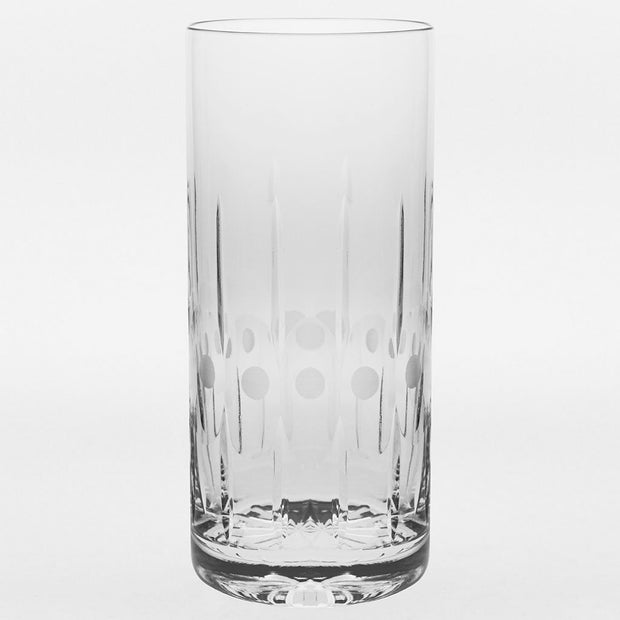European Crystal Highball Tumblers -Water - Juice - Wine -Beer -16 Oz.- Set of 6