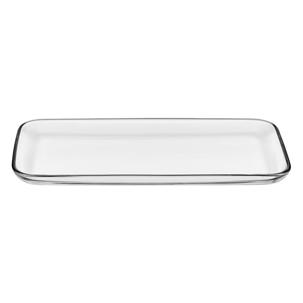"European Lead Free Crystalline Rectangular Serving Tray - Platter - 12.8"" Length"