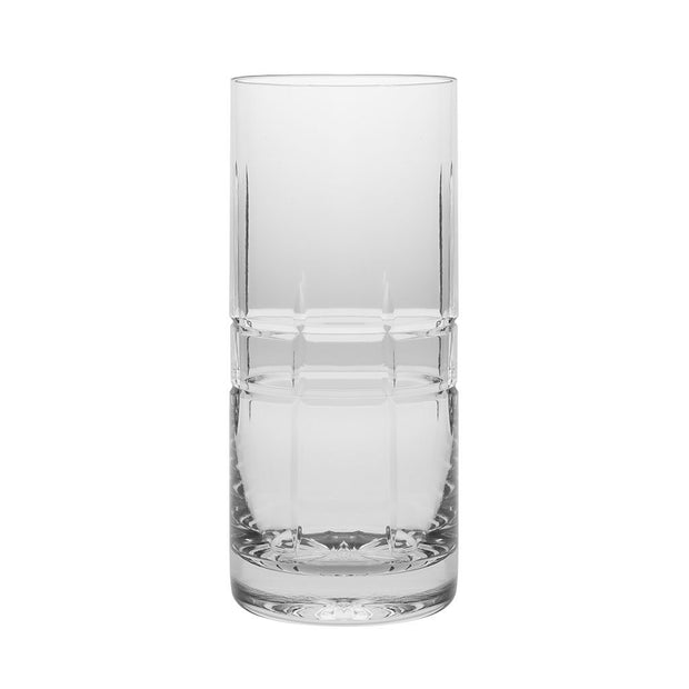 European Crystal Highball Tumblers -Water - Juice - Wine - Beer & Cocktails - 16 OZ. - Set of 6