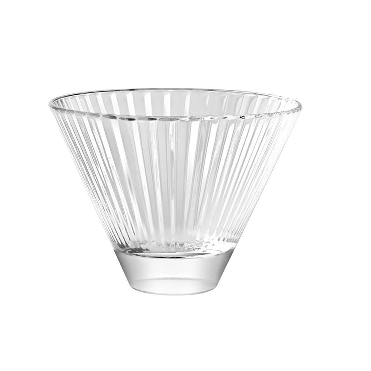 European Lead Free Crystalline Stemless Cocktail Glasses / Martinis - 11 oz., Set of 6
