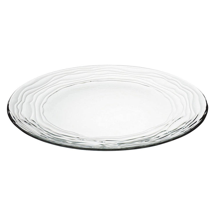 "European Lead Free Crystalline Clear Charger / Large Plate - W/ Designed Border- 12.5"" Diameter - Set of 2"